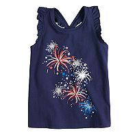 Toddler Girl Jumping Beans® Glittery Fireworks Tank Top