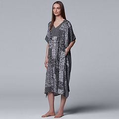 Women's Simply Vera Vera Wang Printed Caftan Nightgown