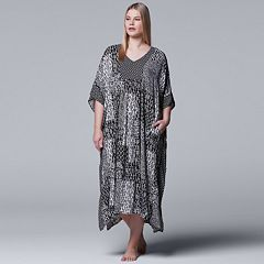 Plus Size Simply Vera Vera Wang Printed Caftan Nightgown