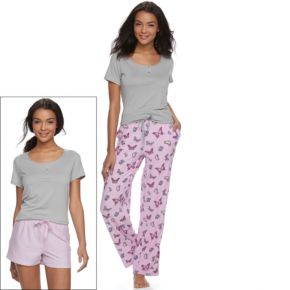 Women's Be Yourself 3-Piece Pajama Set