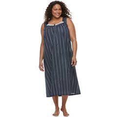 Plus Size Croft & Barrow® Crochet Long Nightgown