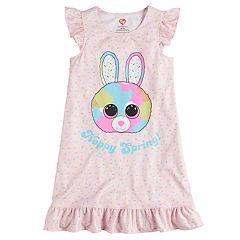 Girls 4-12 TY Beanie Boos Bubby 'Happy Spring' Bunny Knee-Length Nightgown