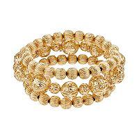 Filigree Bead Stretch Bracelet Set