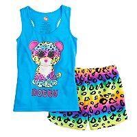 Girls 4-12 TY Beanie Boo Dotty Tank Top & Plush Shorts Pajama Set