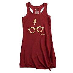 Girls 4-12 Harry Potter Zapped Glasses Knee-Length Dorm Nightgown