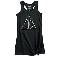 Girls 4-12 Harry Potter & The Deathly Hallows Mesh Knee-Length Dorm Nightgown