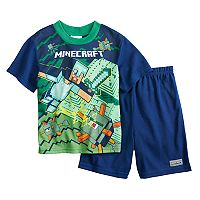 Boys 6-12 Minecraft 2 pc Pajama Set