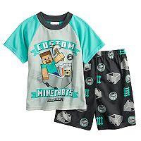Boys 6-12 Minecraft Steve 2-Piece Pajama Set