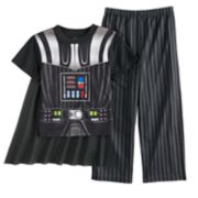 Boys 4-10 Star Wars Darth Vader 3-Piece Uniform Costume Pajama Set