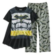 Boys 4-10 Batman 2-Piece Uniform Costume Pajama Set