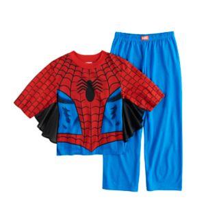 Boys 4-10 Spider-Man 2-Piece Uniform Costume Pajama Set