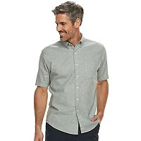 Men's Croft & Barrow® Classic-Fit Linen-Blend Button-Down Shirt