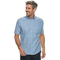 Men's Croft & Barrow® Classic-Fit Linen-Blend Button-Down Shirt