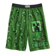 Boys 6-16 Minecraft Creeper Sleep Shorts