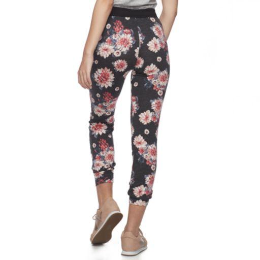 Juniors' Joe B Floral French Terry Jogger Pants