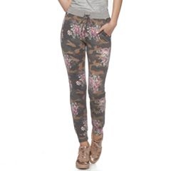 Juniors' Joe B Floral French Terry Jogger Pants