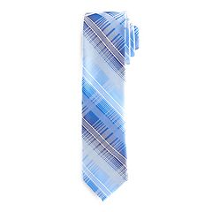 Men's Van Heusen Patterned Skinny Tie With Tie Bar