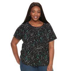 Plus Size Croft & Barrow® Floral Top