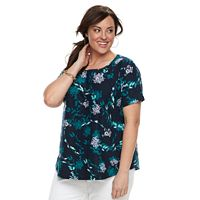 Plus Size Croft & Barrow® Floral Top
