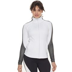 Women's FILA SPORT® Ribbed Panel Zip-Up Jacket