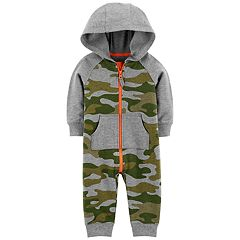 Baby Boy Carter's Camouflaged Hooded Coverall