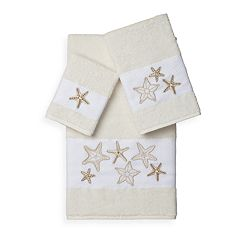 Linum Home Textiles Lydia 3-piece Embellished Bath Towel Set