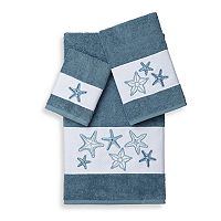 Linum Home Textiles Lydia 3 pc Embellished Bath Towel Set