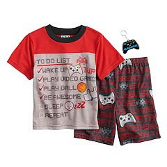Boys 6-12 Up-Late Gamer To-Do List 2-Piece Pajamas