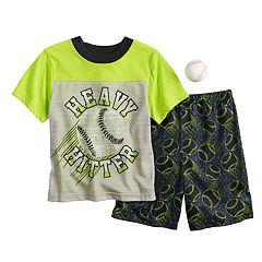 Boys 4-10 Up-Late Baseball 2-Piece Pajama Set