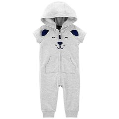 Baby Boy Carter's Dog Face Hooded Coverall