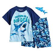 Boys 4-12 Up-Late Sharks 2 pc Pajama Set