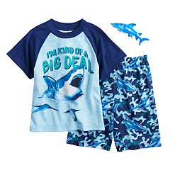 Boys 4-12 Up-Late Sharks 2 pc Pajama Set