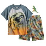 Boys 4-12 Up-Late Dinosaur 2-Piece Pajama Set