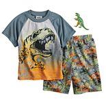 Boys 4-12 Up-Late Dinosaur 2-Piece Pajama Set