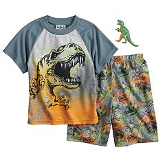 Boys 4-12 Up-Late Dinosaur 2 pc Pajama Set