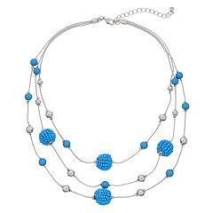 Beaded Multistrand Illusion Necklace