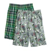 Boys 4-16 Up-Late T-Rex 2-Pack Sleep Shorts