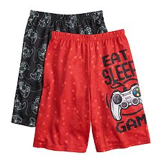 Boys 4-16 Up-Late Game Controller 2-Pack Sleep Shorts