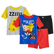 Boys 6-12 Pokemon 4 pc Pajama Set