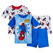 Boys 4-10 Spider-Man 4 pc Pajama Set
