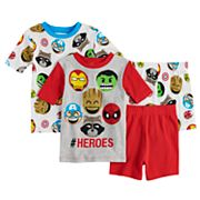 Boys 4-10 Marvel Heros 4 pc Pajama Set