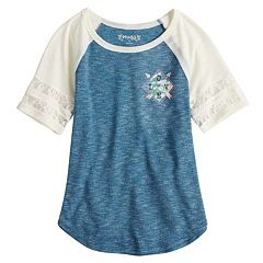 Girls 7-16 & Plus Size Mudd® Sporty Raglan Graphic Tee