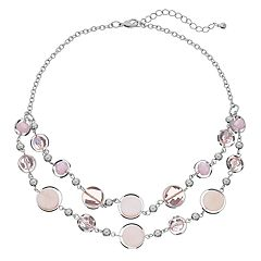 Mother-of-Pearl Bead & Disc Multirow Necklace