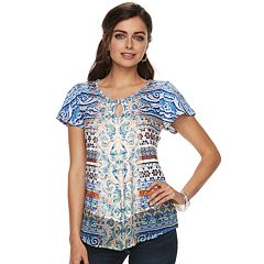 Women's World Unity Printed Flutter Tee