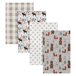 Trend Lab Scandi Cocoa 4-pk. Flannel Swaddle Blankets