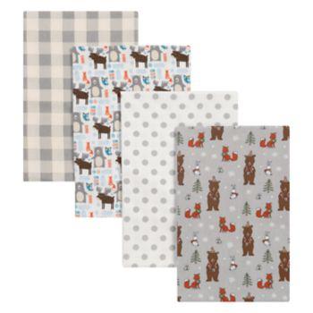 Trend Lab Scandi Cocoa 4-pk. Flannel Swaddle Blankets
