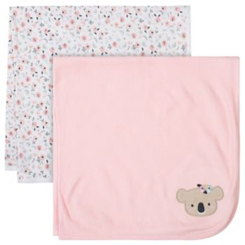 Just Born 2-pack Thermal Giraffe Swaddle Blankets