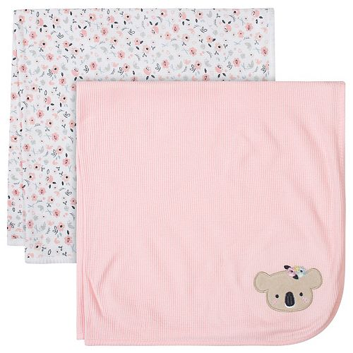 Just Born® 2-pack Thermal Ditsy Floral Swaddle Blankets