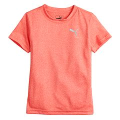 Boys 4-7 Puma Heathered Performance Logo Tee