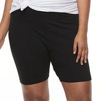 Plus Size SO® Bermuda Yoga Shorts